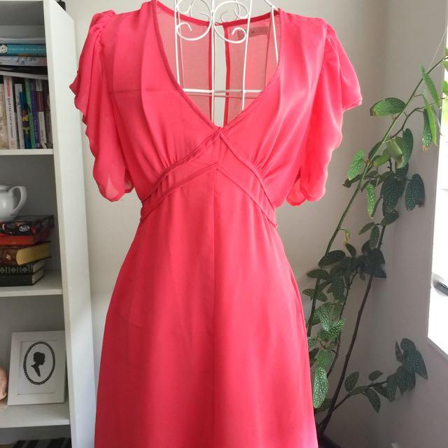 Pink Chiffon Dress size 10