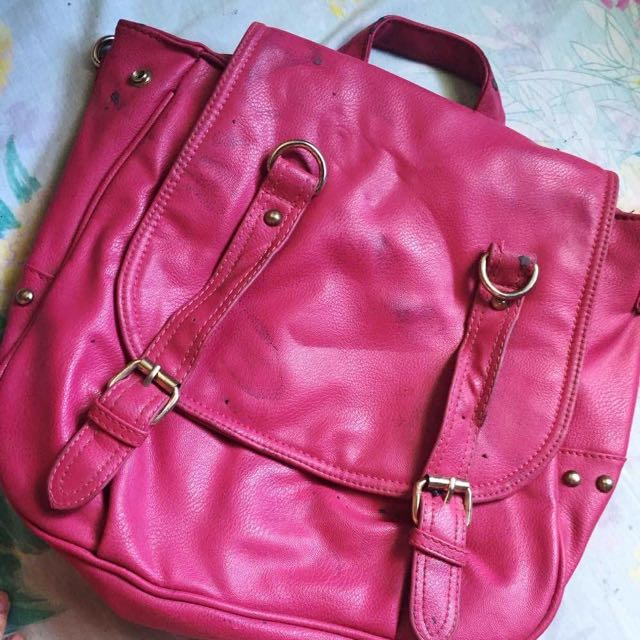 Pink Leather Bag