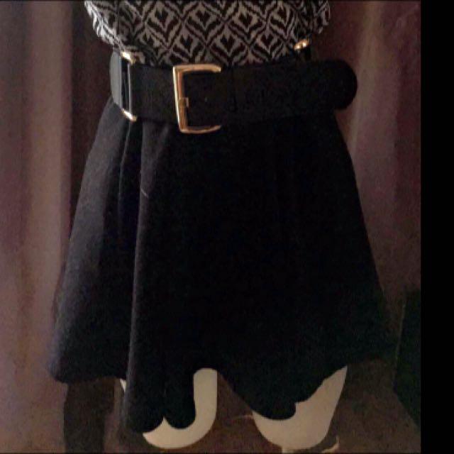 Plain Black Skirt