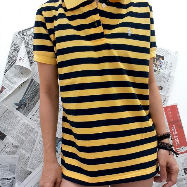 Polo Shirt Zebra Kuning Navi