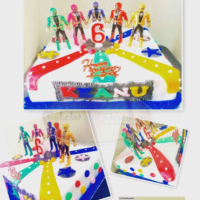 Terrific Power Rangers Birthday Cake Food Drinks Baked Goods On Carousell Funny Birthday Cards Online Inifodamsfinfo