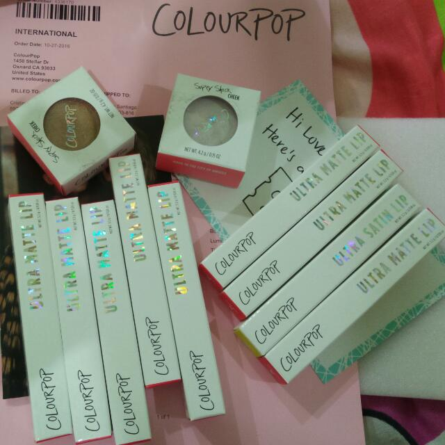 STOCKS ON HAND  fresh from the US  colourpop lipstick and highlighter $12 only each