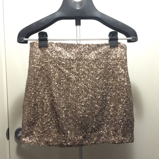 Supre Bronze Sequin Skirt Size S