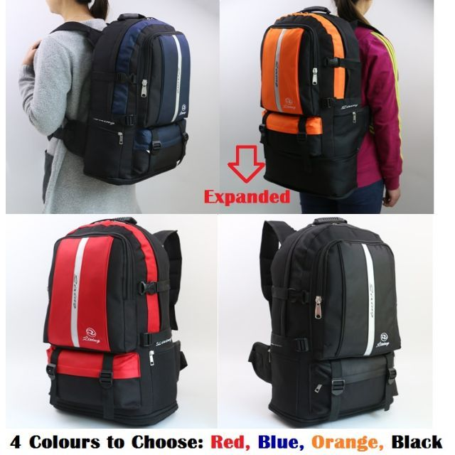 32d10d6b69 Travel Backpack  Expandable 40L to 50L Hiking Backpack Large ...