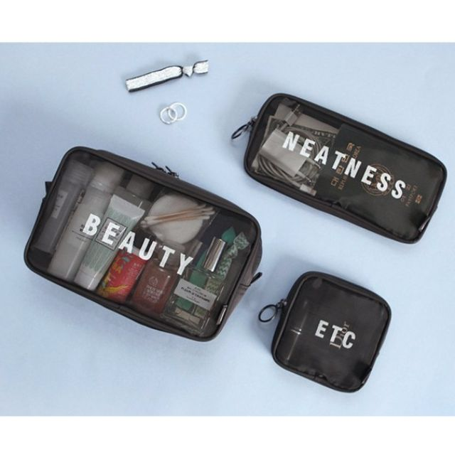 Travel Breathable Mesh Pouch Cosmetic Storage Bag B10904
