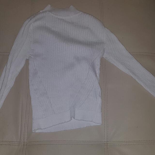 White Popcherry Sweater Knit