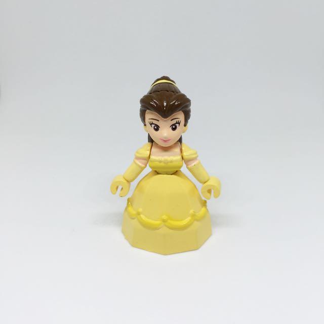 🚫Yujin 迪士尼 貝兒 美女與野獸 積木人 積木公主 絕版 扭蛋 轉蛋 公仔 玩偶