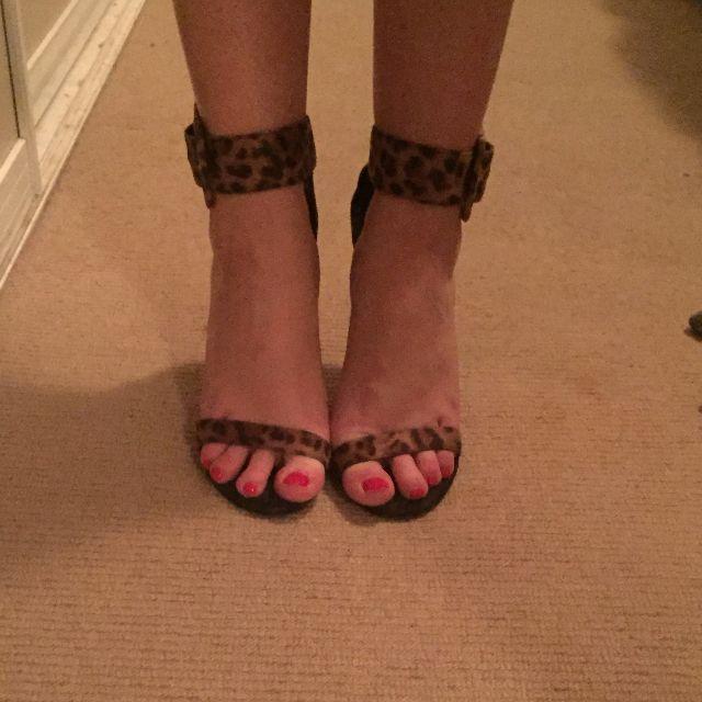 Zu leopard print sandals size 36