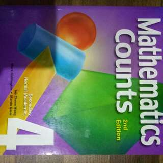 BN New Mathematics Counts 2nd Edition Secondary Normal Academic 4 Textbook