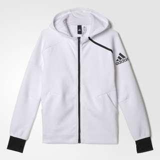 🚚 【現貨】adidas Z.N.E. Hoodie 大童/童款 愛迪達 ZNE連帽外套 白色(B45015) 15-16Y