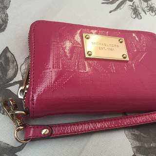 Michael Kors Hot Pink Wristlet