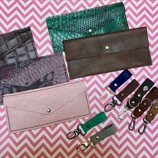 Handmade Leather Pouch And Keychain