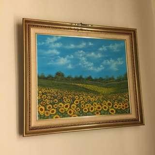 向日葵🌻油畫 收藏品