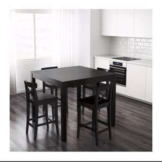 IKEA Bar Table/ Chairs Dinning Set - 8 MONTHS OLD
