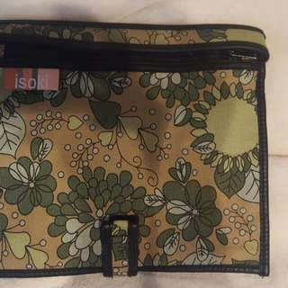 Isoki Cloth And Leather Baby Supply Travel Bag