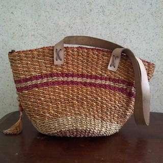 Basketweave Shoulder Bag