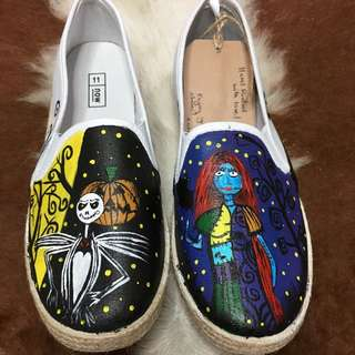 Jack & Sally Hand Painted Canvas Shoes