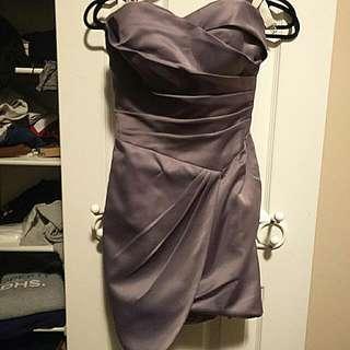Custom Made Satin Dress (NEW PRICE)