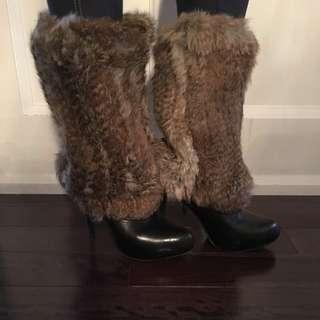 Rabbit Fur Leg Warmers