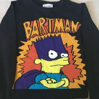 "Loose Knit Sweater ""bartman"" Design"