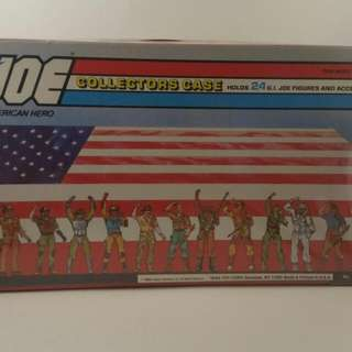 Gi Joe Collectors case 1984 Hasbro Tara