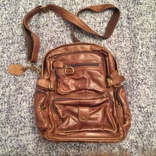 Real Leather Purse/Backpack