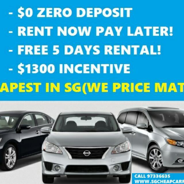 $0 DRIVEAWAY UBER GRAR Car For Rent. Grabcar Rental
