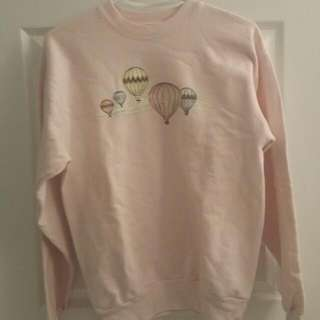Pink hot air balloon sweater