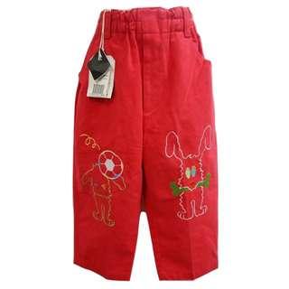 高質感舒適童褲俏皮可愛女童褲優質童裝【全新含吊牌原價690元女童長褲6號】