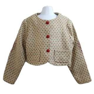 氣質優雅時尚羊毛外套男童女童皆適合款優質童裝【全新含吊牌原價4580元男女童外套11號】