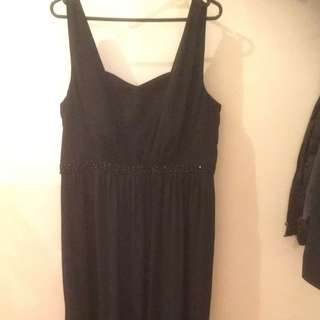 FOREVER NEW size 18 Beaded Black Formal Dress