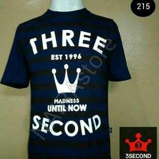 Kaos Distro Three Seconds Original