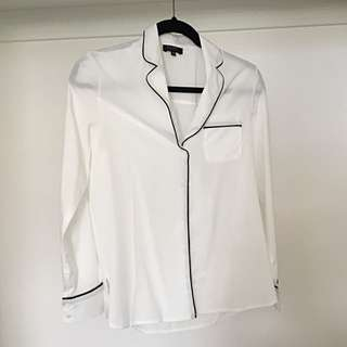 Zalora Pajama Style Button Up Shirt