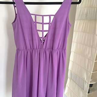 Bettina Liano Violet/purple Mini Dress 6
