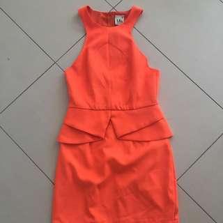 Mis Orange Dress