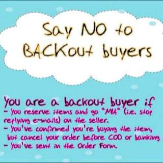 No Backout Buyer Allowed