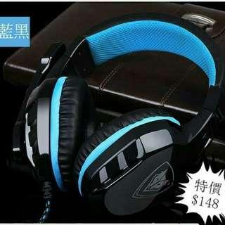 產品詳情  顏色:藍黑色  黑紅 (雙插頭)  類型:有線  價錢:$120   特色:耳筒有軟皮革嘅設計,並有可伸縮式的設計, 方便按照頭型去調教角度,令你絕對舒適!! 麥克風音質非常清晰,而且可170度旋轉, 方便調教角度!耳筒有專業嘅降噪技術, 令你可以享受耳筒HIFI級嘅音質以及盡情 感受遊戲體驗。絕對物超所值!~  🚫禁止棄單  棄單者後果自負  😁本店以有大量好評 請大家放心購買  😁保證100%全新  😍價錢可議
