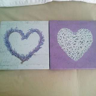 2 Love Heart Canvas Prints