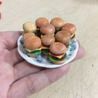 Handmade Miniature Hamburger And Fries