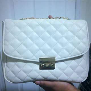 White Ivory Quilted Bag