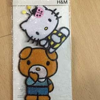 New Original H&M hello kitty iron on patch