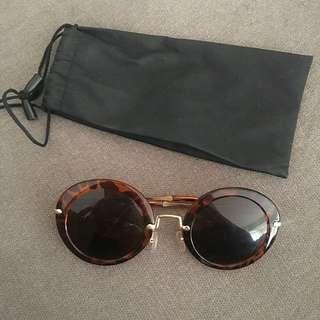 Peppermayo Tortoise Shell Sunglasses.