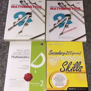 SECONDARY 2 MATH TEXTBOOKS And WORKBOOKS