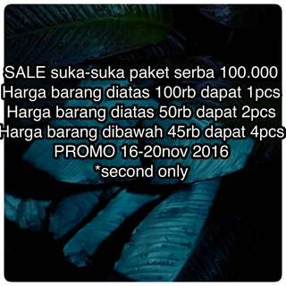 SALE All Item Second Only