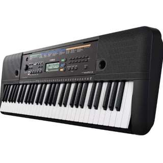 Yamaha PSRE253 Portable Keyboard with Aux Line Input, (Black)