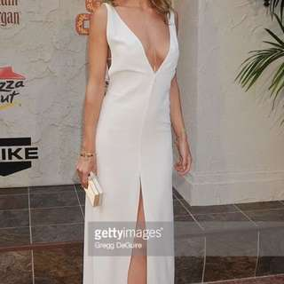 Rosie Huntington White Deep V Dress