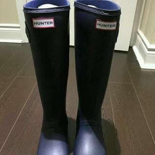 Brand New Navy Matte Hunter Boots Size 9