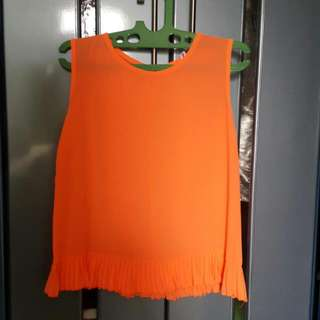 Orange Neon Top