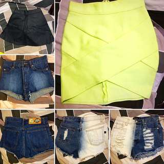 2 SKIRTS AND 2 SHORTS FOR $50