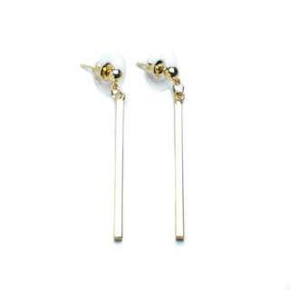 [BN] Titan - Gold plated Bar Earrings